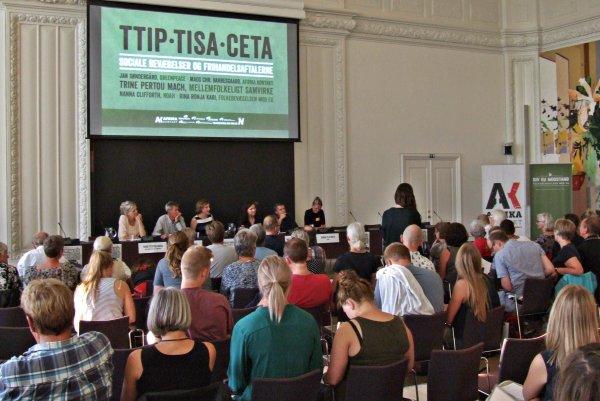 TTIP-konferencen var udsolgt, men nu kan den ses i sin helhed på YouTube. Foto: Aage Christensen.