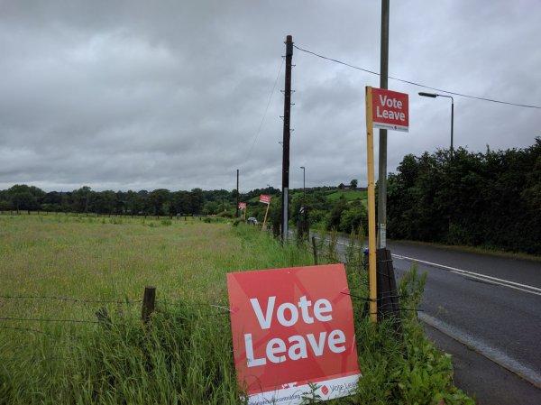 Med et flertal på over million stemmer briterne den 23. juni at forlade EU. Foto: Bob Harvey / Wikimedia Commons.