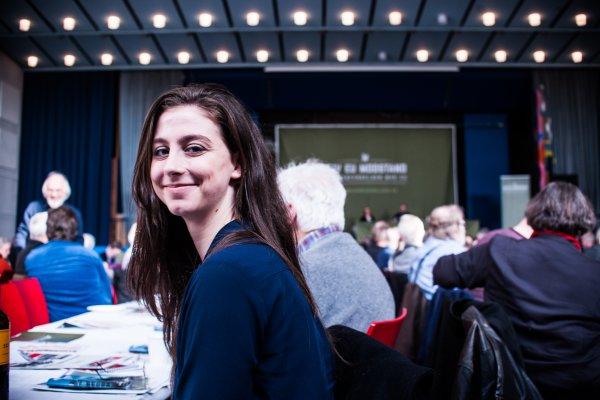 Stillingen omfatter forberedelse af møder - her Folkebevægelsen mod EU's Landsmøde. Foto: Alexander Zehntner.