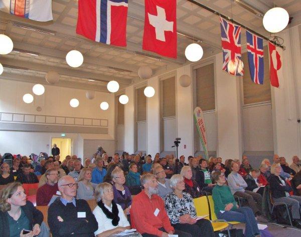 Folkebevægelsen mod EU's alternativ konference 'EU er fortid - vi skaber fremtiden' havde omkring 120 deltagere. Foto: Folkebevægelsen mod EU
