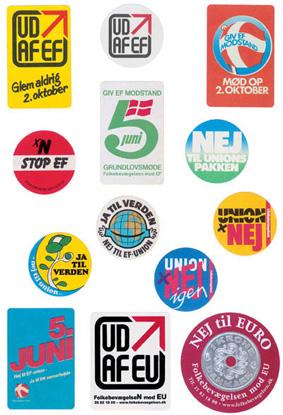 Badges og klistermærker